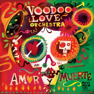 Illustration for voodoo love orchestra album by Lee Hodges