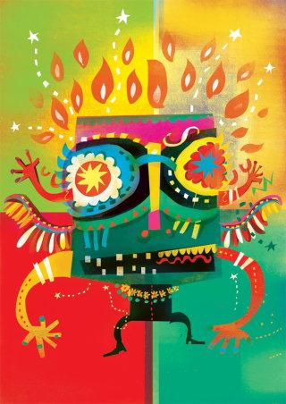 An illustration of Love carnival drummer