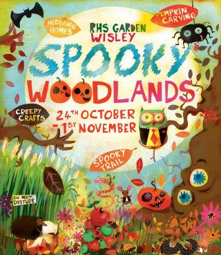 Illustration for Spooky Woodlands poster by Lee Hodges