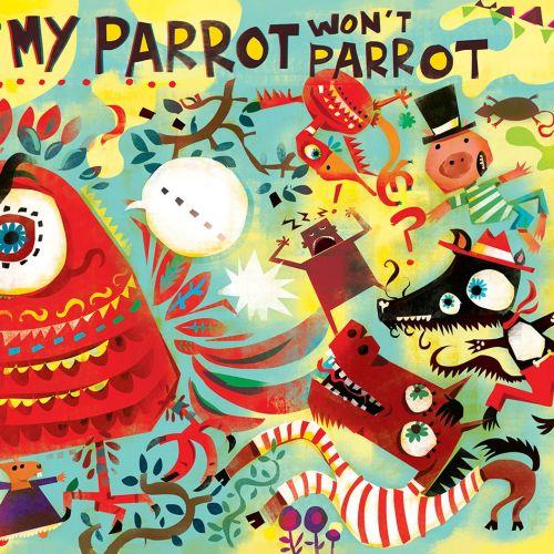 Character design of my parrot for Children's magazine