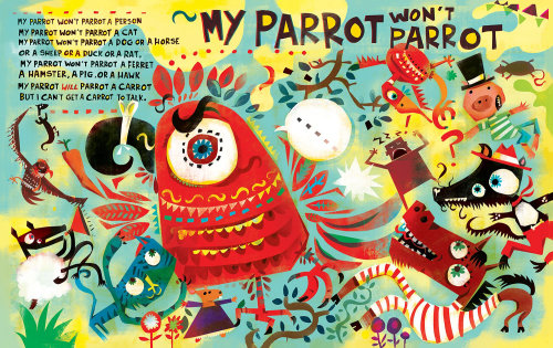 Character design of my parrot for Children's magazine