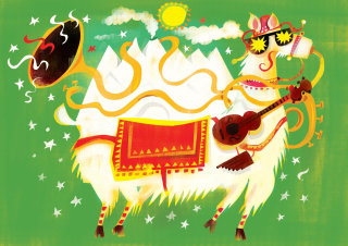 Cow of high plain hip illustration by Lee Hodges