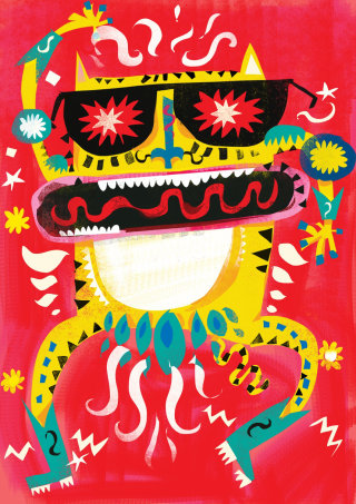 An illustration of Carnival cat