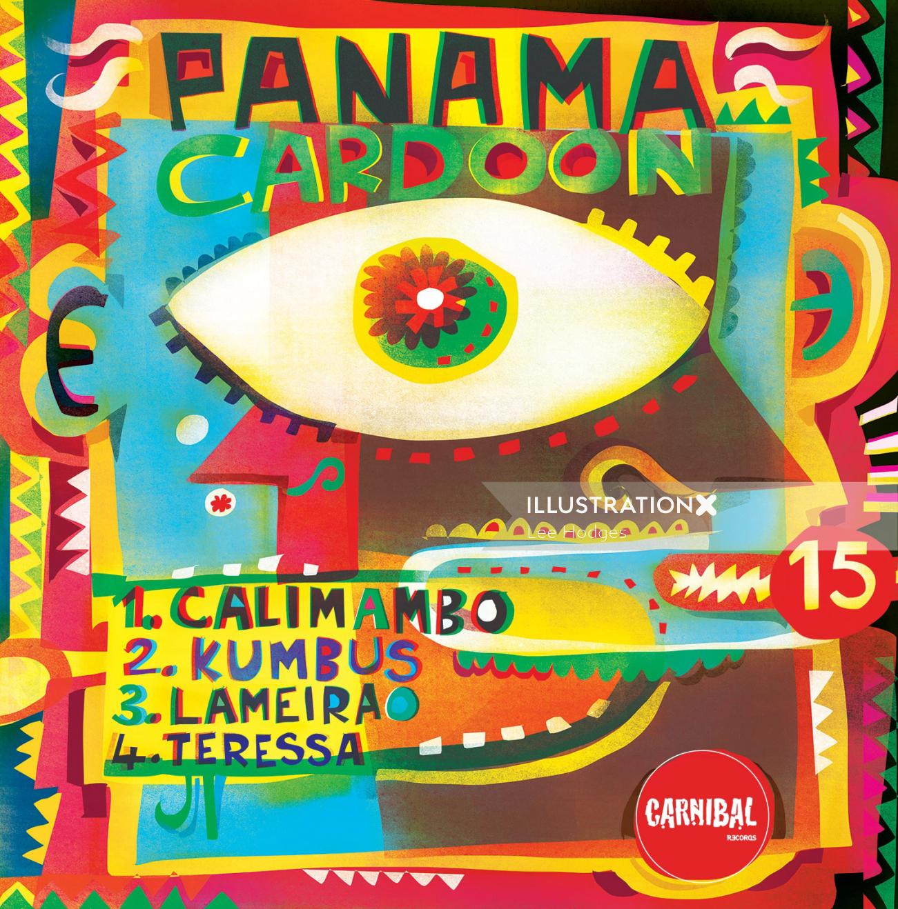 An illustration for album cover panama Cardoon