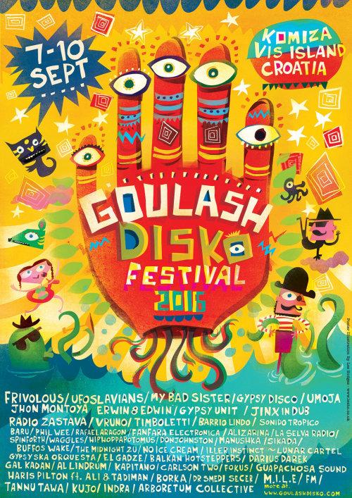 Una ilustración del festival Goulash disko