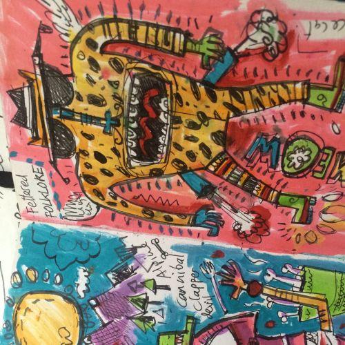 Paper art of monsters
