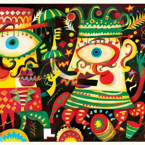 Murga Carnival character design