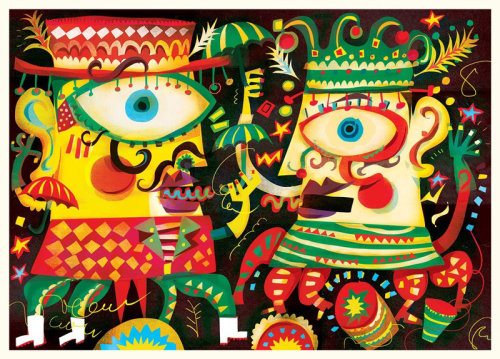 Design de personagens de carnaval de Murga