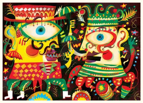 Diseño de personajes de Murga Carnival