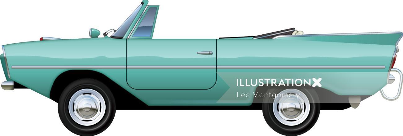 Illustration of Amphicar