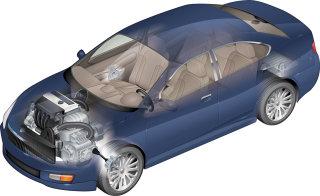 Illustration of Cutaway Car