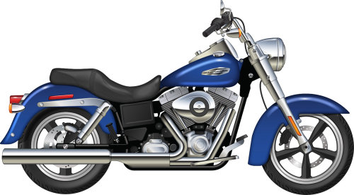 Illustration of Harley Davidson Dynaglide