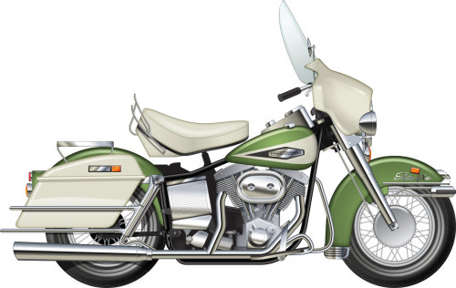 Illustration of Harley Davidson Electraglide