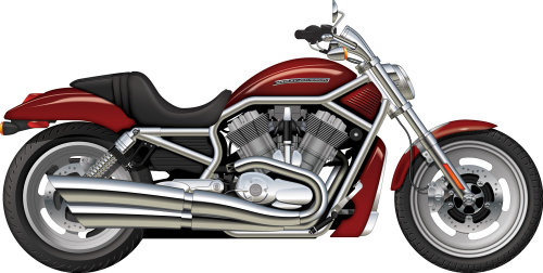 Illustration of Harley Davidson V-Rod