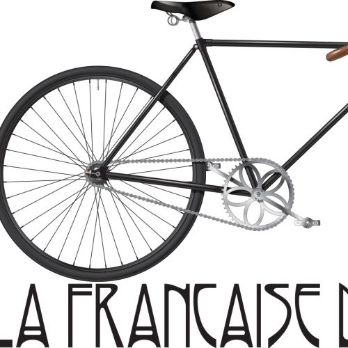 Illustration of France winning bicycle