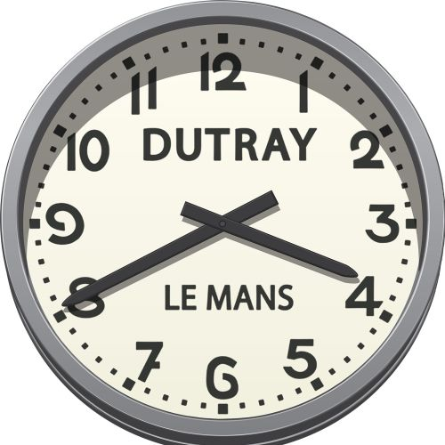 Le Mans Race Track Clock vector illustration