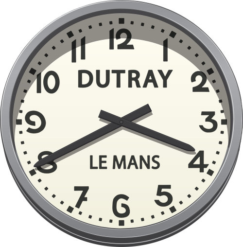 Le Mans Race Track Clock vector illustration