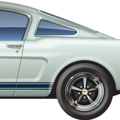 Illustration of Ford mustang