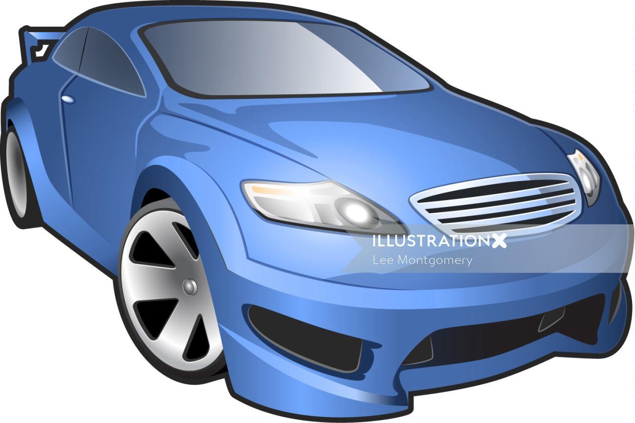 Illustration of Micro Car Icon