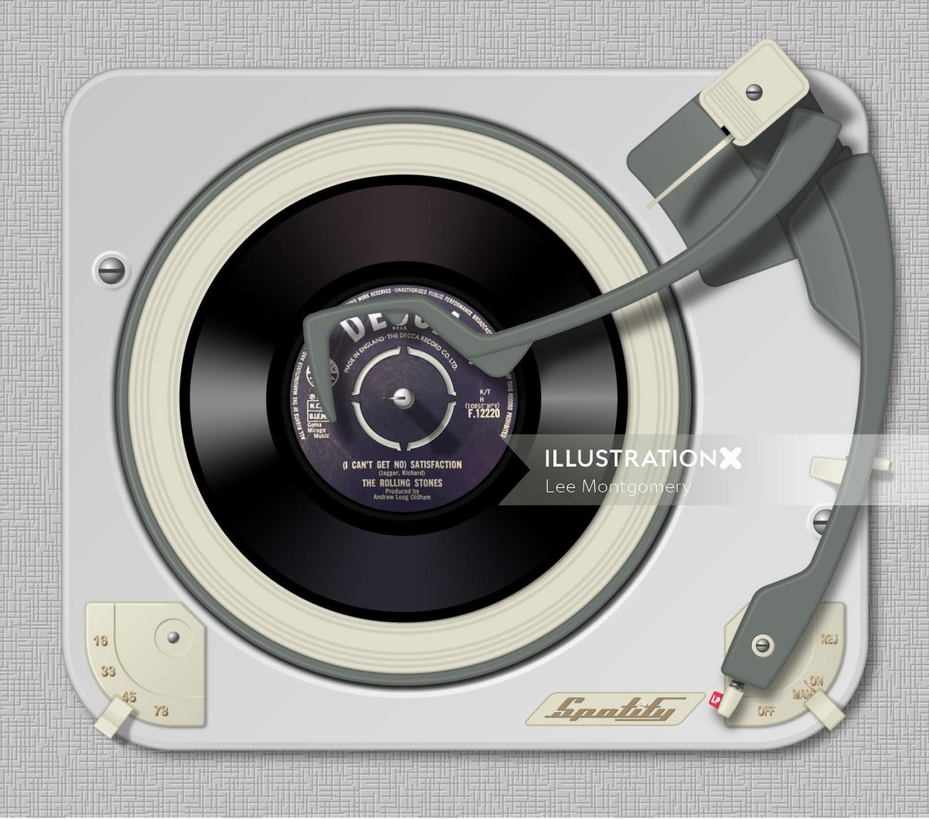 Vintage Turntable vinyl record