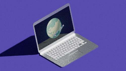 Laptop 3d animation