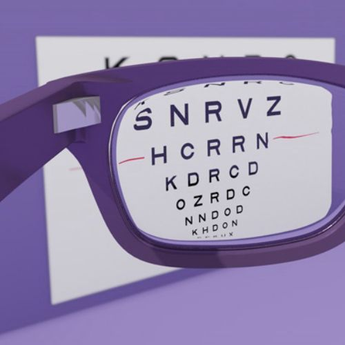 Optician sight chart animation