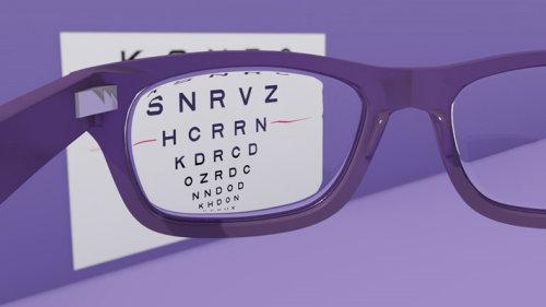 Optician sight chart animation