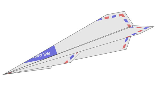 Airmail paper plane animation