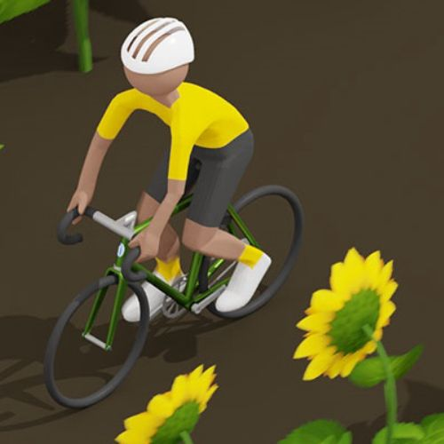 Sunflower cyclist animation