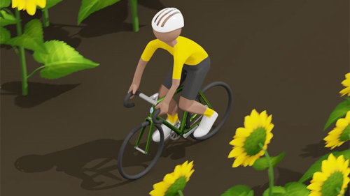 Sunflower cyclist animation