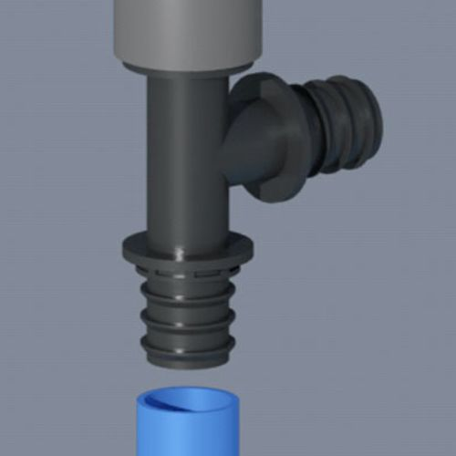Pipe connectors 3d animation
