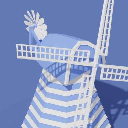 Windmill 3d animation