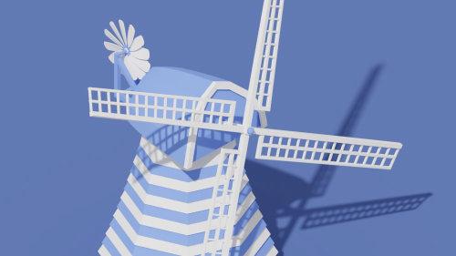Windmill 3d animation