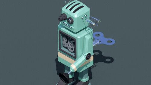 Kitchen Appliance Robot animation