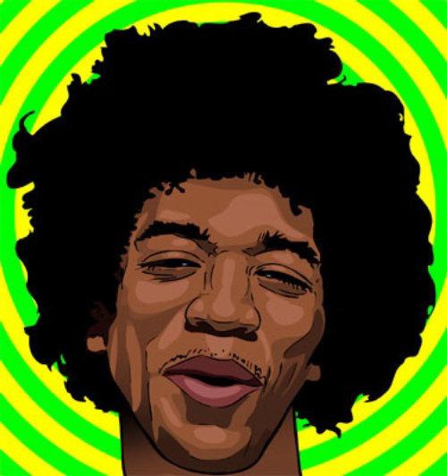 Graphic Jimmy Hendrix