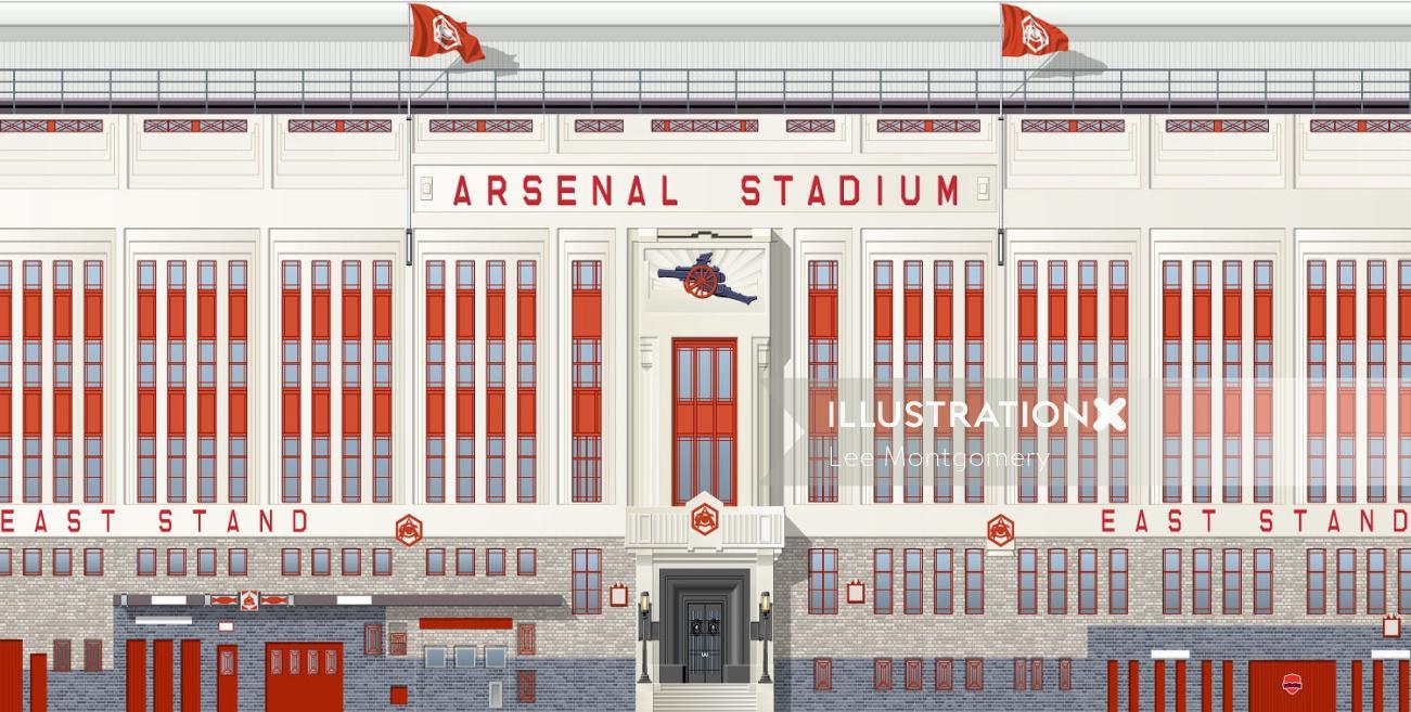 Thirties Arsenal Footbal stadium