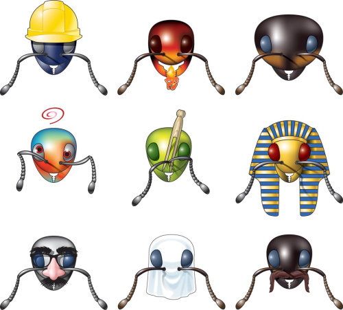 ant head icons