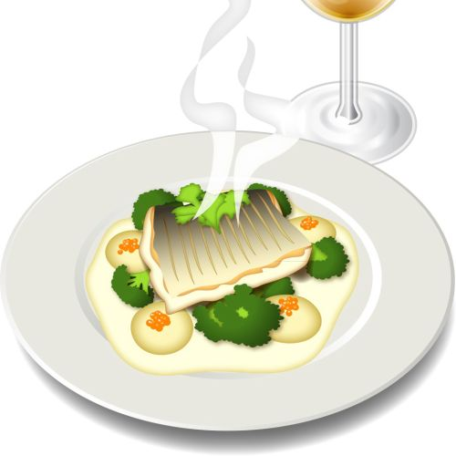 Baked Cod with wine