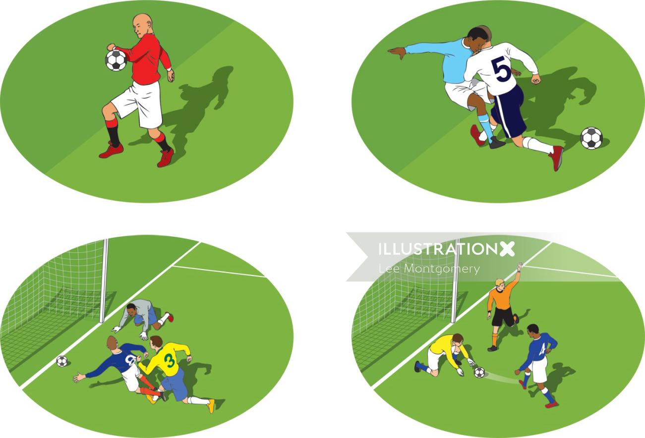 Football offences illustration by  Lee Montgomery