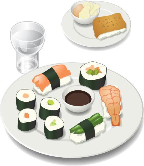 Illustration of Sushi Meal