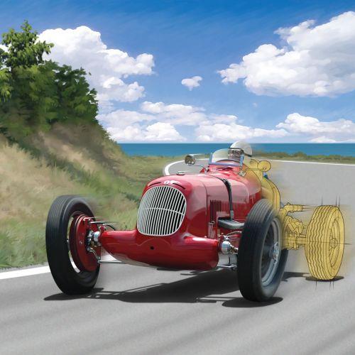 Maserati  luxury car driving