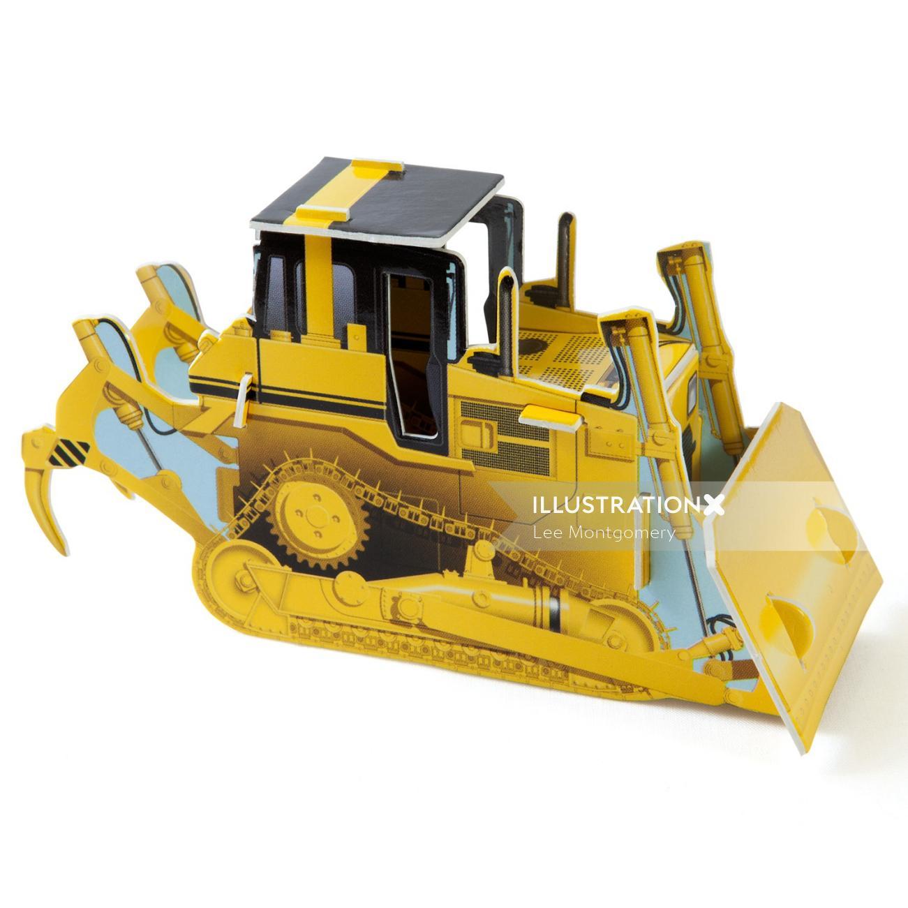 Illustration of Bulldozer
