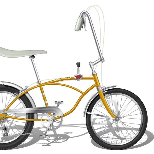 Illustration of Steyr-Puch bicycle
