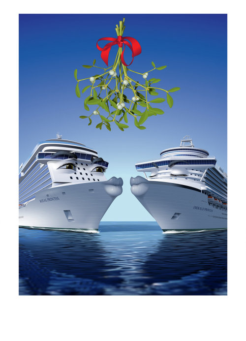 Princess cruise ships vector graphic