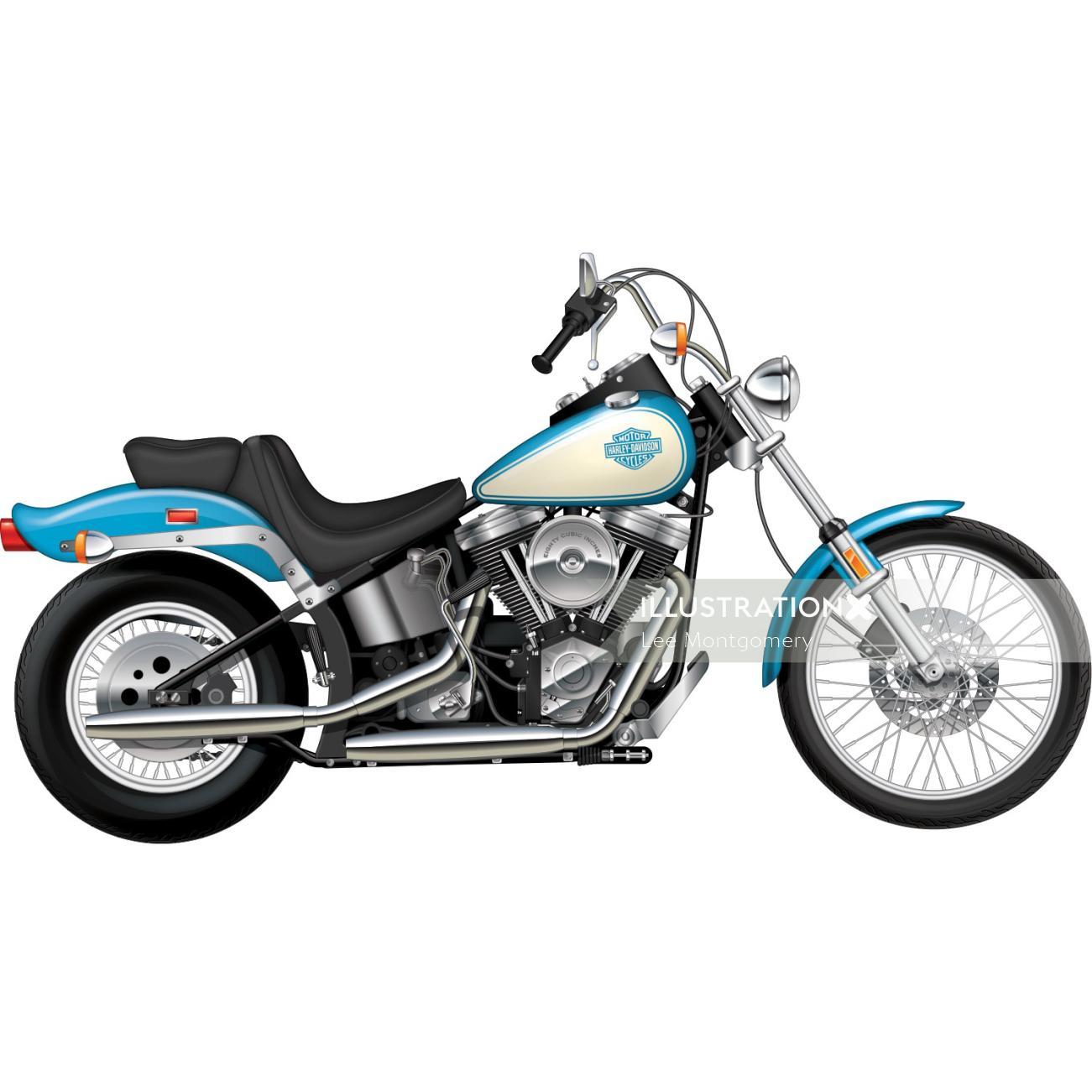 Illustration of Harley Davidson