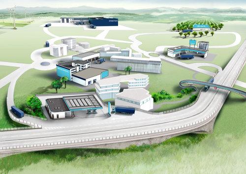 立交桥和建筑物的草图设计