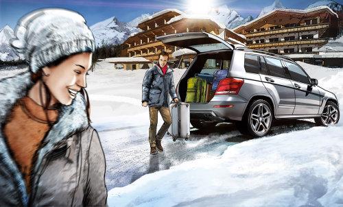 夫妇享受冬季假期的情节提要