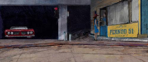 地窖停车的枯燥草图