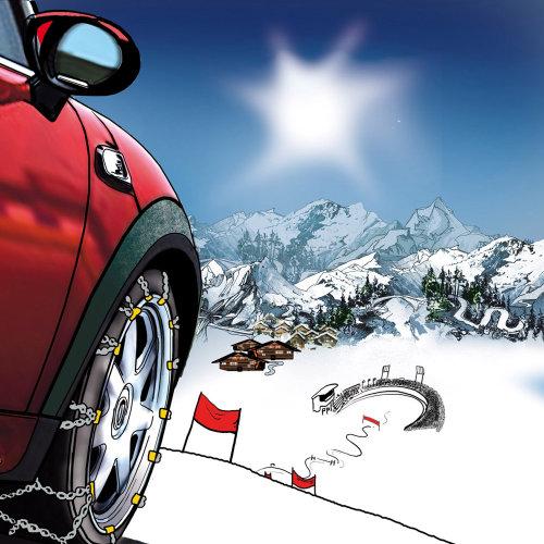 雪中赛车的故事板
