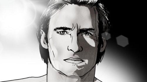男人的黑白肖像